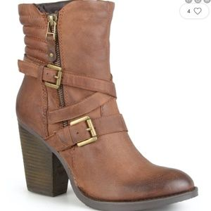 Steve Madden Leather Raleigh heeled boots